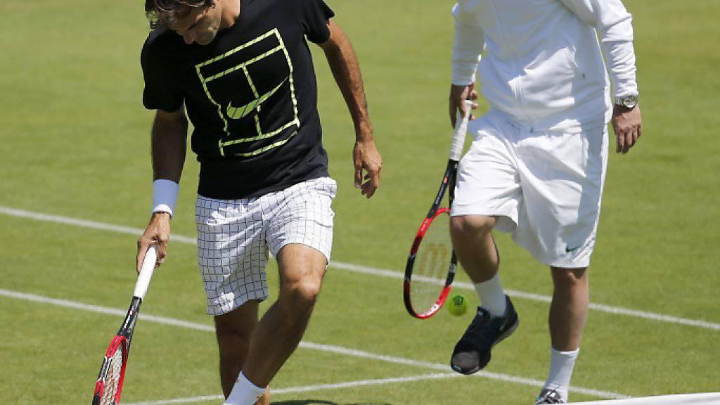 Seit Jahren ein Erfolgsduo: Roger Federer and Severin Lüthi