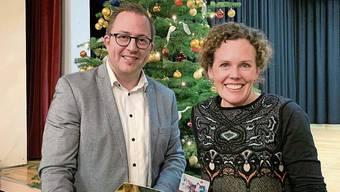Der Neue und die Scheidende: Marc Philip Seidel und Christine von Arx.
