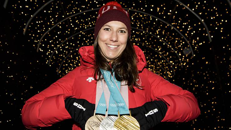 Medaillensammlerin: Nach ihren drei Olympiamedaillen holte Wendy Holdener an der Schweizer Meisterschaft erwartungsgemäss Gold im Slalom
