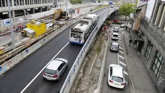 Die Tramverbindung über die Hardbrücke kommt vors Volk (Symbolbild).