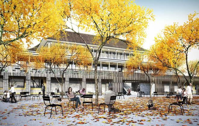 Auch das Zolli-Restaurant wird umgebaut und wird künftig so aussehen.