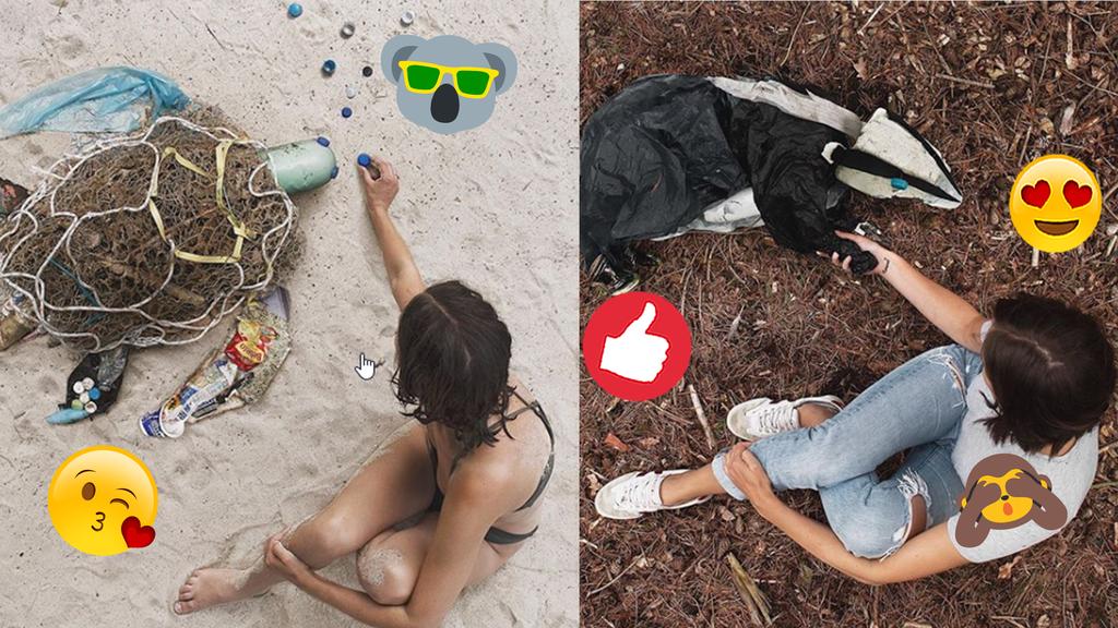 Influencerin macht Kunst aus Abfall und kämpft so gegen Umweltverschmutzung