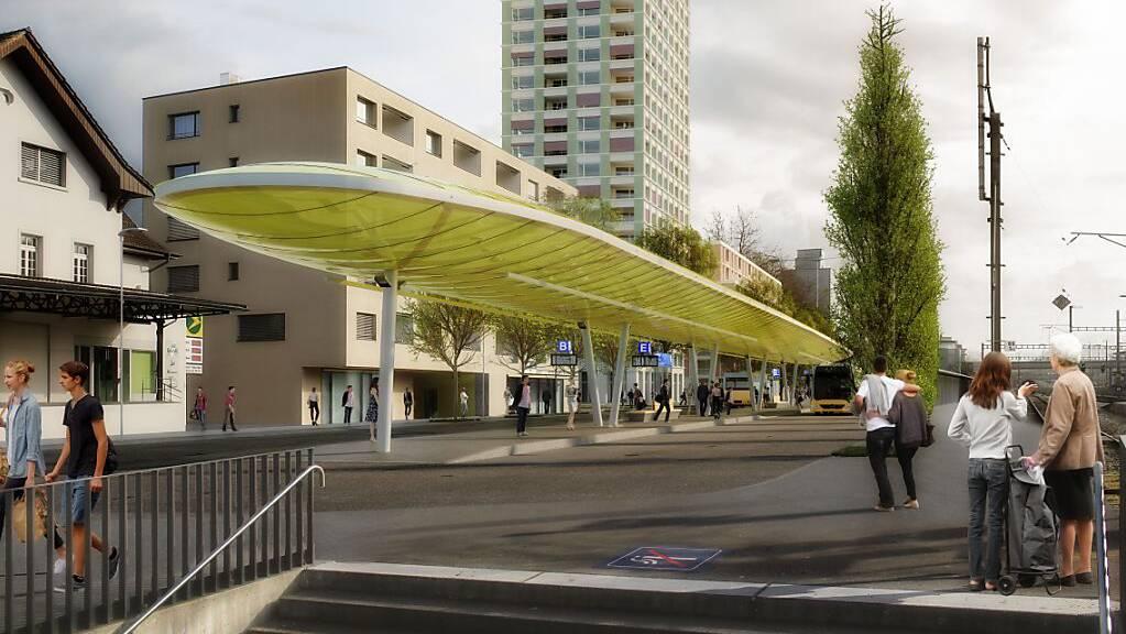 Beim Bahnhof Sursee soll der Bushof erneuert und vergrössert werden.