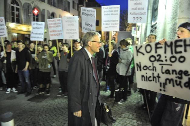 Protest gegen die 2-Uhr-Schliessung im März 2010