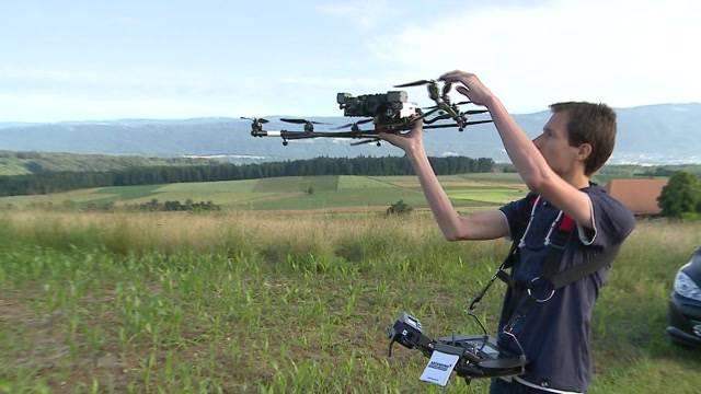 Pilotprojekt: Drohnen retten Rehkitze