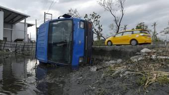 """Taifun """"Nepartak"""" hinterlässt nach Taiwan (hier auf einem Archivbild) auch in China grosse Schäden. (Archiv)"""
