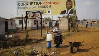 Wahlplakat in Bekkersdal, einem Township bei Johannesburg