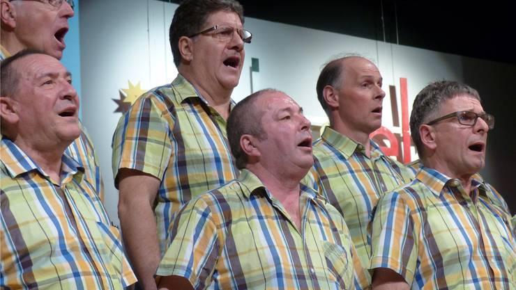 Mit Begeisterung bei der Sache: die Männer vom Sängerbund Wittnau.