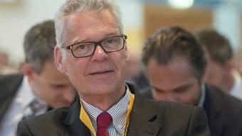 Der Sika Verwaltungsrat Urs Burkard verteidigt an der Generalversammlung 2018 wie in den Vorjahren erneut die Interessen der Erbenfamilie (Bild Sika-GV 2016).