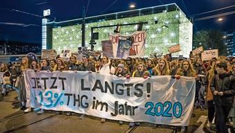 Klima-Demonstration in der Zürcher Innenstadt am Black Friday letzte Woche.