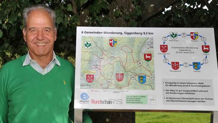 Werner Joho hat einen in der Schweiz wohl einzigartigen Wanderweg realisiert.