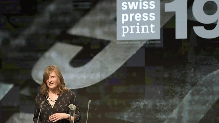 Camille Krafft, Gewinnerin des Swiss Press Awards in der Kategorie Print.