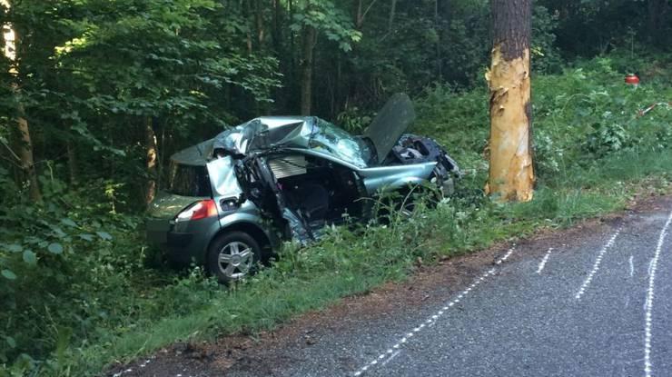 Eine 25-jährige Autofahrerin ist in Matzingen TG in einen Baum gerast. Sie wurde dabei schwer verletzt, ihr 21-jähriger Beifahrer verstarb noch auf der Unfallstelle.