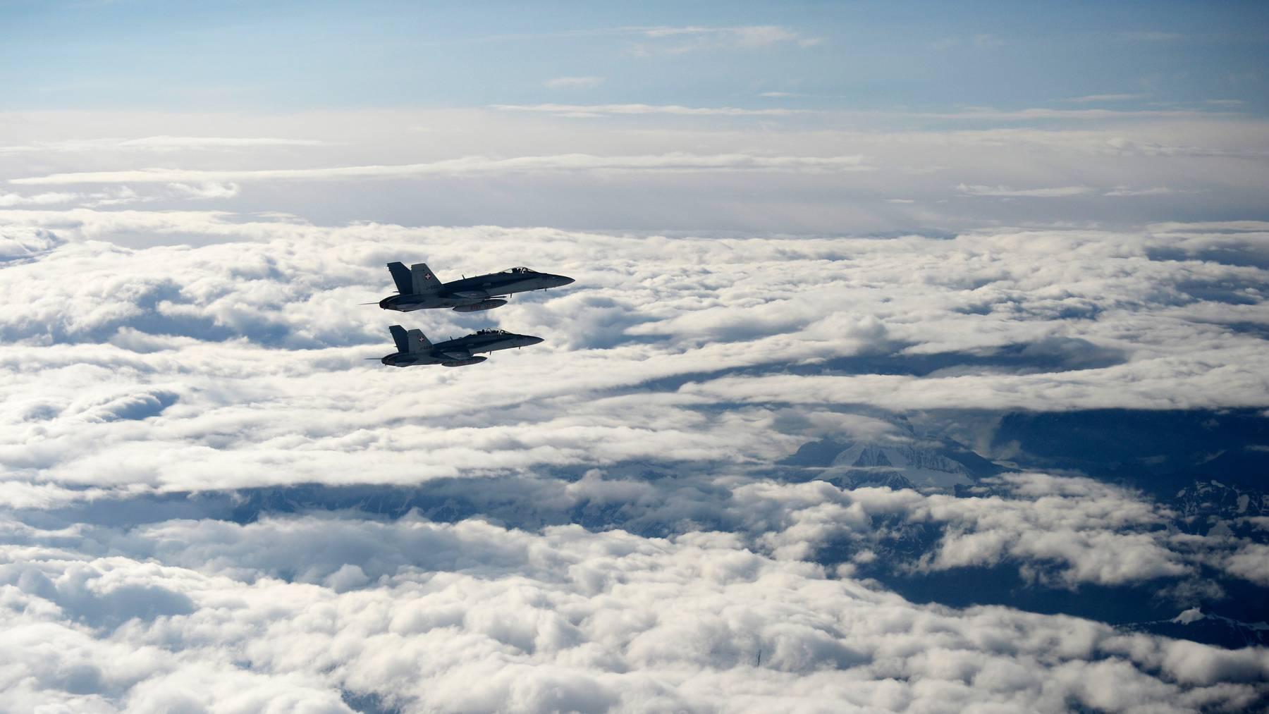 Sollen ersetzt werden: die F/A-18 Kampfjets der Schweizer Luftwaffe.