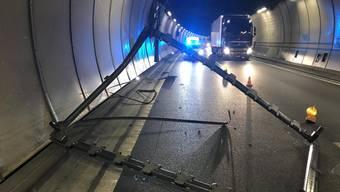Unfall auf der A2 im Arisdorftunnel