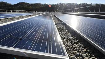 Eine Fotovoltaikanlage. Symbolbild