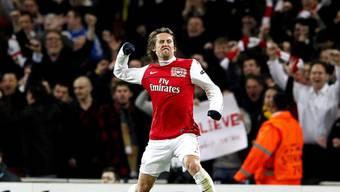 Bester Mann auf dem Platz: Arsenals Tomas Rosicky (traf zum 2:0)