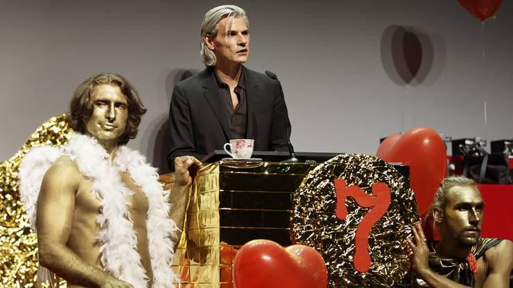 Stefan Charles, Abteilungsleiter Kultur beim SRF, hielt die Eröffnungsrede.