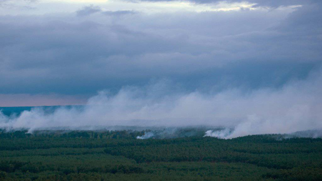Waldbrand in Mecklenburg-Vorpommern ausgebreitet