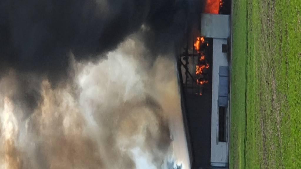 Scheune eines Bauernhauses völlig ausgebrannt