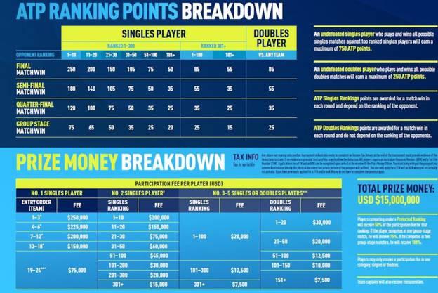 Preisgeld, Weltranglistenpunkt, Modus: Der ATP-Cup in einem Bild.