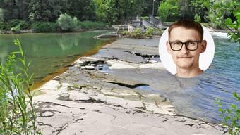 Bei der Schwelliplatte rettete Philippe Viau im Sommer einen Mann vor dem Ertrinken.
