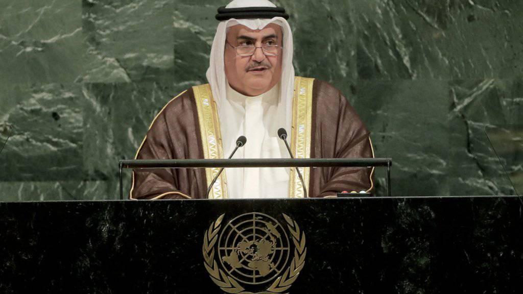 Hält nichts von Katars Iran-freundlichem Kurs: Bahrains Aussenminister Khalid bin Ahmed al-Khalifa. (Archivbild)
