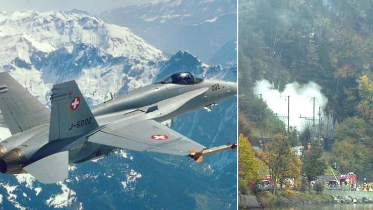 Am 23. Oktober stürzte bei Alpnach eine F/A-18 der Schweizer Luftwaffe ab. Der Pilot und ein Passagier wurden getötet.