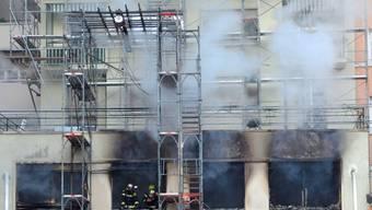 Brand im Zentrum Lausannes