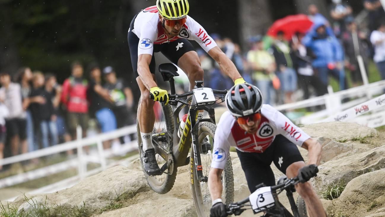 Nino Schurter und Mathias Flückiger Val di Sole Sieg