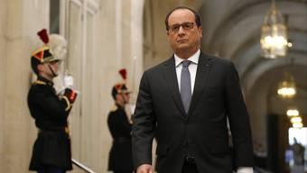 Präsident Hollande äusserte sich am Montag vor den Medien.