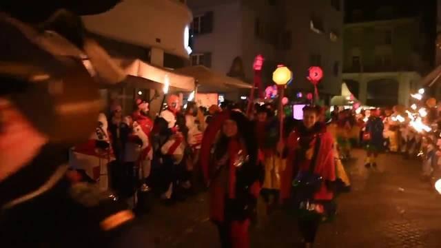 Oltner Fasnacht 2018: Trommler- und Pfyffer beim letzten Gässle und Monsterkonzert