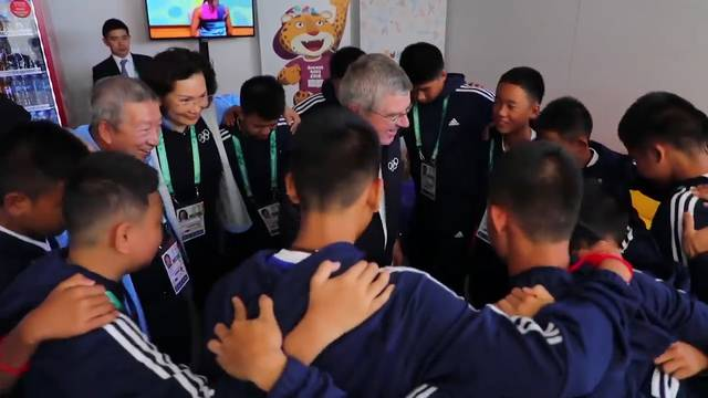 Thailändische Höhlenjungen an den Olympische Jugend-Sommerspielen
