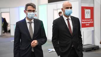 Eröffnung Impfzentrum Basel-Stadt