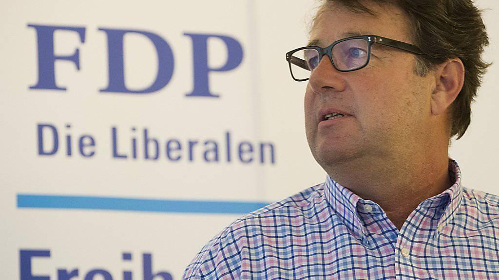 FDP-Vizepräsident und Wahlkampfleiter Vincenzo Pedrazzini präsidiert die Findungskommission, die einen neuen Parteipräsidenten vorschlagen soll.
