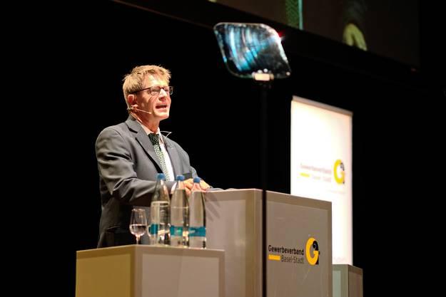 Seine Ansprachen am Neujahrsapéro richten sich oft auch gegen die vom Verband kritisierte Bürokratie in der Verwaltung.