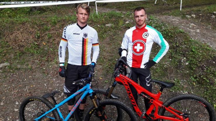 Vor den Finalläufen: Ingo Schegk (links) und Simon Waldburger