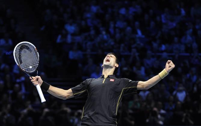 Novak Djokovic schlägt Tomas Berdych in zwei Sätzen