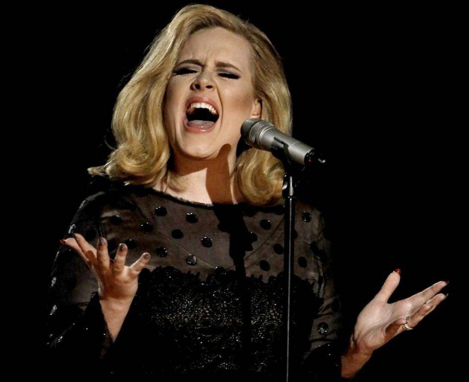 Adele bei den Grammy Awards.