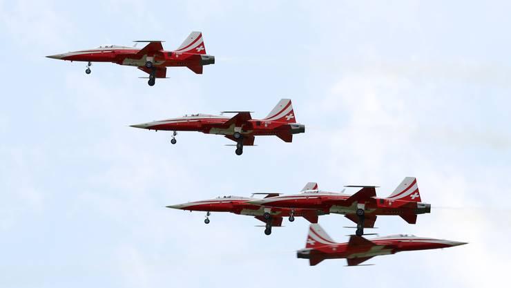 Während der Flugshow der Patrouille Suisse kam es an den Flugtagen in Schupfart beinahe zur Katastrophe.