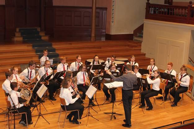 Die konzentrierten MusikantInnen am Jahreskonzert.