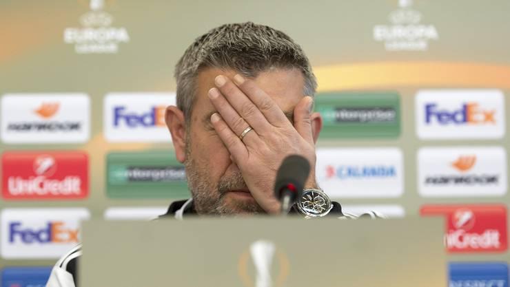 Urs Fischer will lieber über das Spiel gegen Fiorentina sprechen als über die vielen Verletzten.