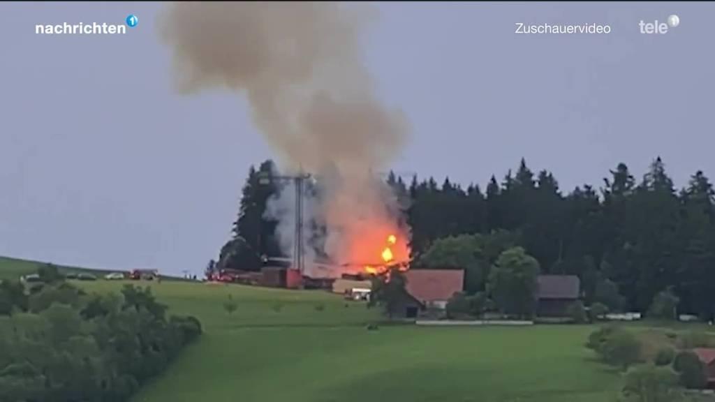 Brand zerstört Sägerei in Wolhusen