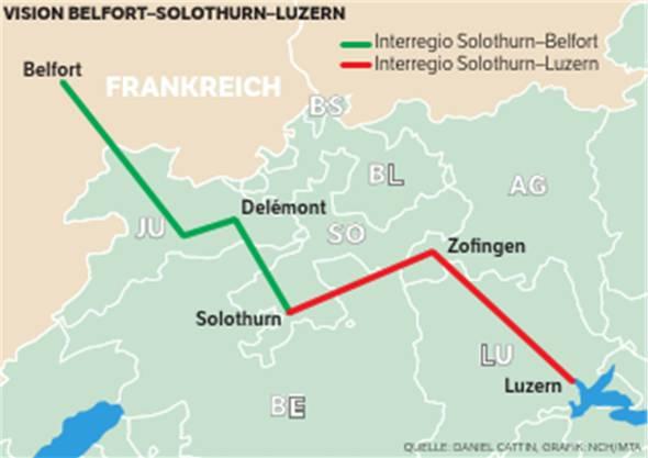 Die Vision Belfort-Solothurn-Luzern