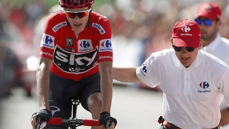 Chris Froome überquert an der Vuelta die Ziellinie