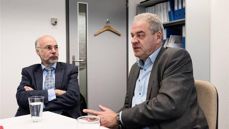 Für Conrad Jauslin (links) und Stephan Maurer ist das Herzstück die Bedingung fürs S-Bahnnetz.