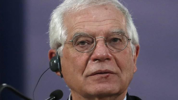 Der EU-Aussenbeauftragte Josep Borrell wird am Montag zum ersten Mal in den Iran reisen. Auf der Agenda steht in erster Linie die Rettung des Atomdeals von 2015. (Archivbild)