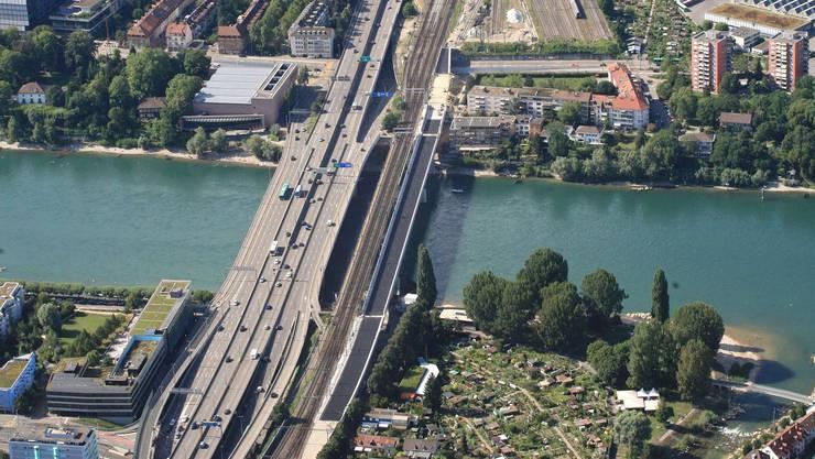 Einer der meistbefahrenen Strassenabschnitte der Schweiz: Die Osttangente.