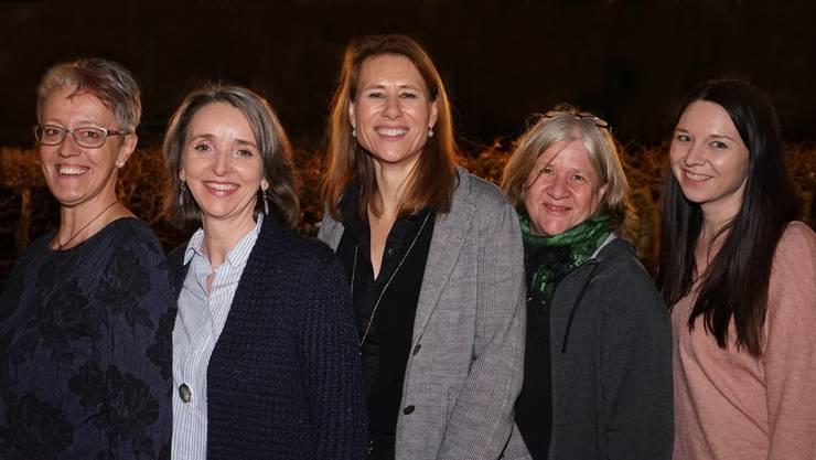 vlnr: Sonja Sanders, Cornelia Lee, Brigitte Bachofner, Idda Jakob, Tamara Nyffeler
