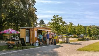 Katja Zeindler betrieb diesen Sommer eine Buvette und einen Kiosk in Rheinfelden. Dank des heissen und langen Sommers zieht sie ein positives Fazit.